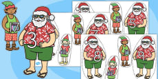 Australia - Number Bonds to 20 Matching Activity on Santa and Elves