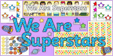 We Are Superstars Ready Made Reward Display Pack