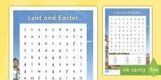 Lent and Easter Word Search