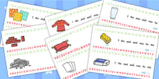 Materials Combined Number and Alphabet Strips