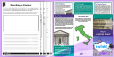 PlanIt Y4 Myths and Legends: Romulus and Remus Home Learning Tasks