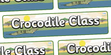 Crocodile Themed Classroom Display Banner