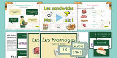 French Sandwich Shop Role Play Area Pack