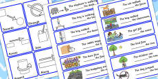 Fill In The Sentence With Directional Prepositions Cards