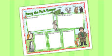 Book Review Writing Frame to Support Teaching on Percy The Park Keeper
