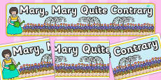 Mary Mary Quite Contrary Display Banner