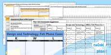 PlanIt - D&T UKS2 - Felt Phone Cases Unit Assessment Pack