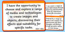 CfE Expressive Arts Experiences and Outcomes for Display First