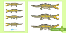 Greater Than And Less Than (Crocodiles - Small)