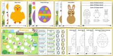 * NEW * Easter Themed 2D Shape Activity Pack