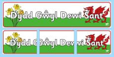 Baner Dydd Gwyl Dewi