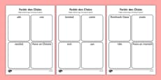 Irish Gaeilge Easter Words Read and Draw Activity Sheet
