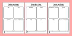 Irish Gaeilge Easter Words Read and Draw Activity Sheet
