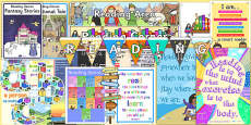 Reading Corner Area Display Pack KS1