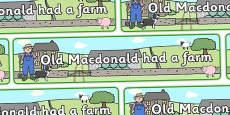 Old MacDonald Had a Farm Display Banner