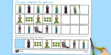 Rapunzel Complete the Pattern Activity Sheets