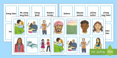 * NEW * Spanish Greetings Snap Game