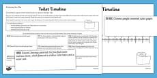 Toilet Timeline Activity Sheet