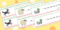 Alphabet Strips to Support Teaching on What the Ladybird Heard
