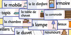 French Bedroom Words Flashcards