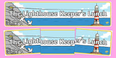 Display Banner to Support Teaching on The Lighthouse Keepers Lunch