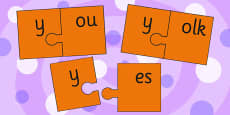 y and Vowel Production Jigsaw Cut Outs