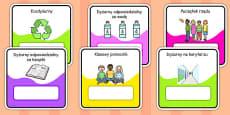 Monitor and Job Cards Polish