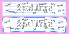 Spellings Display Banner