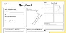 All About Northland Writing Frame
