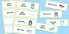 Three Syllable GL Word Cards