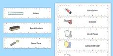 Editable Multicoloured Star Drawer Labels