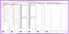 KS1 Arithmetic Content Practice Activity Sheet Pack Counting Forwards and Backwards in Steps of 10
