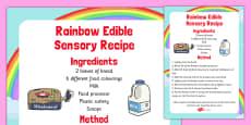Rainbow Edible Sensory Recipe