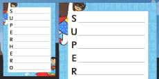 Superhero Themed Acrostic Poem