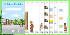 * NEW * My School Portfolio Editable Activity Sheets