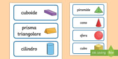 Forme geometriche 3D Parole Illustrate