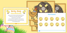 Easter Chick Counting Busy Bag Prompt Card and Resource Pack