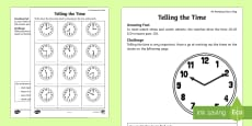 Telling the Time Activity Sheet