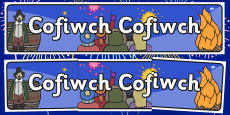 Remember Remember Themed Banner Welsh