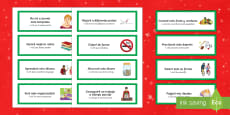 New Years Resolutions Word Cards Spanish Translation