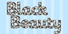 Black Beauty Display Lettering