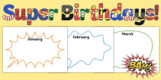 Superhero Themed Birthday Display Pack