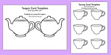Teapot Mother's Day Card Blank Arabic Translation