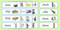 ch Sound Word Cards