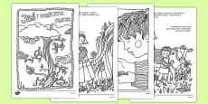 Jack and the Beanstalk Mindfulness Colouring Story Polish