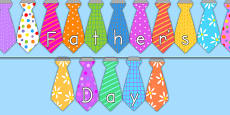 Tie Shaped Father's Day Display Bunting (Australia)