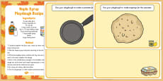 Pancake Day Themed Playdough Recipe and Mat Pack