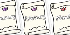 Months of the Year on Invitations
