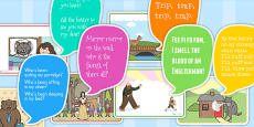Traditional Tales Cut-out Display Speech Bubbles