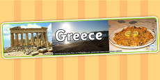 Greece Photo Display Banner